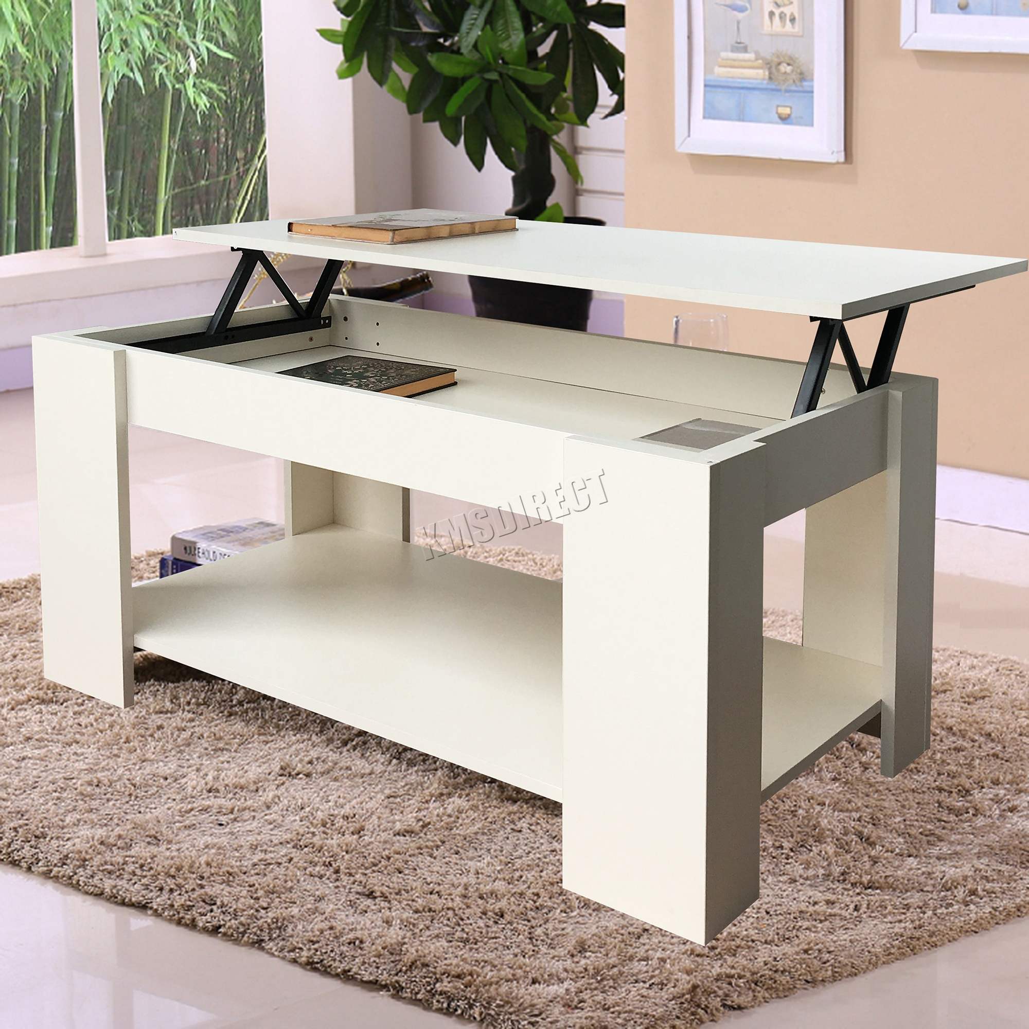 Foxhunter lift up top coffee table mdf with storage and for Does a living room need a coffee table