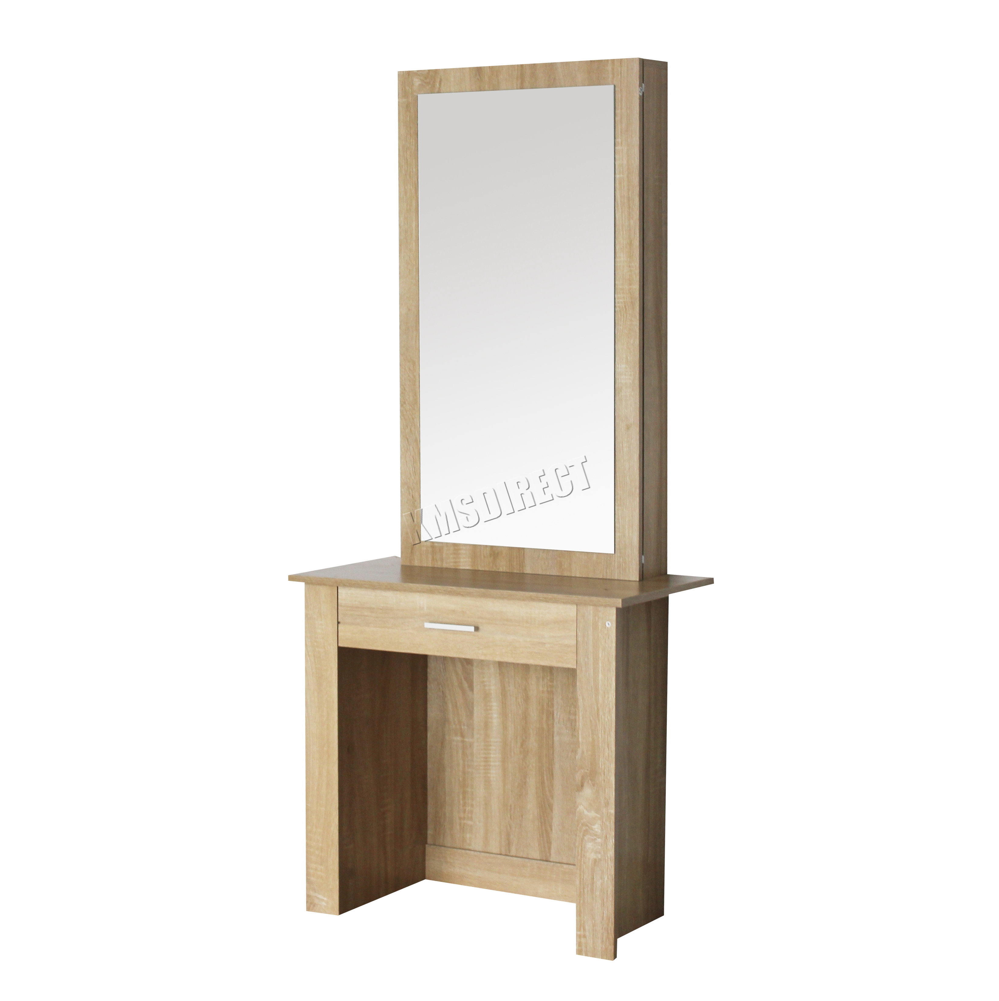 Foxhunter wooden makeup jewelry dressing table with