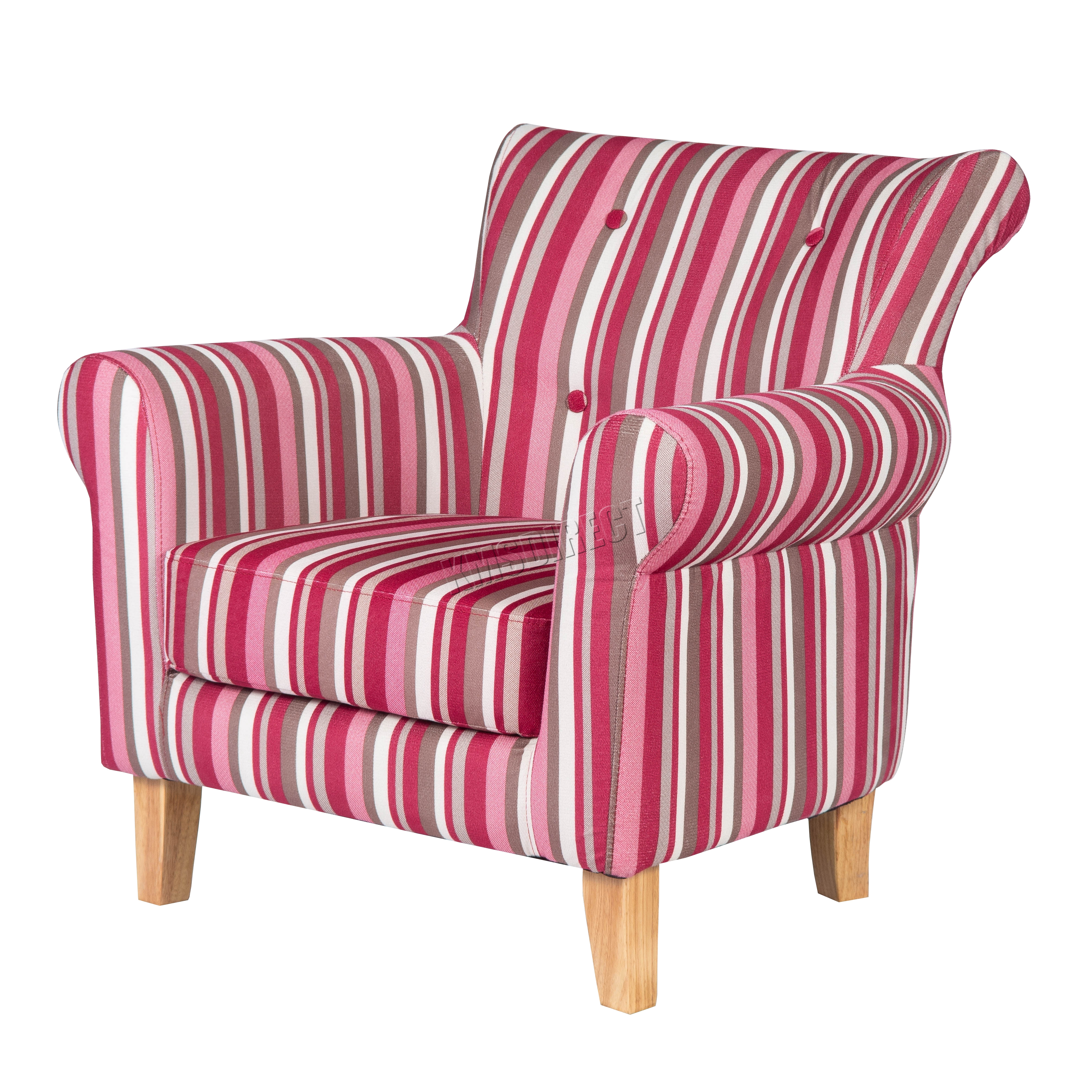 FoxHunter Fabric Tub Chair Armchair Dining Living Room Lounge TC08 Red Stripe