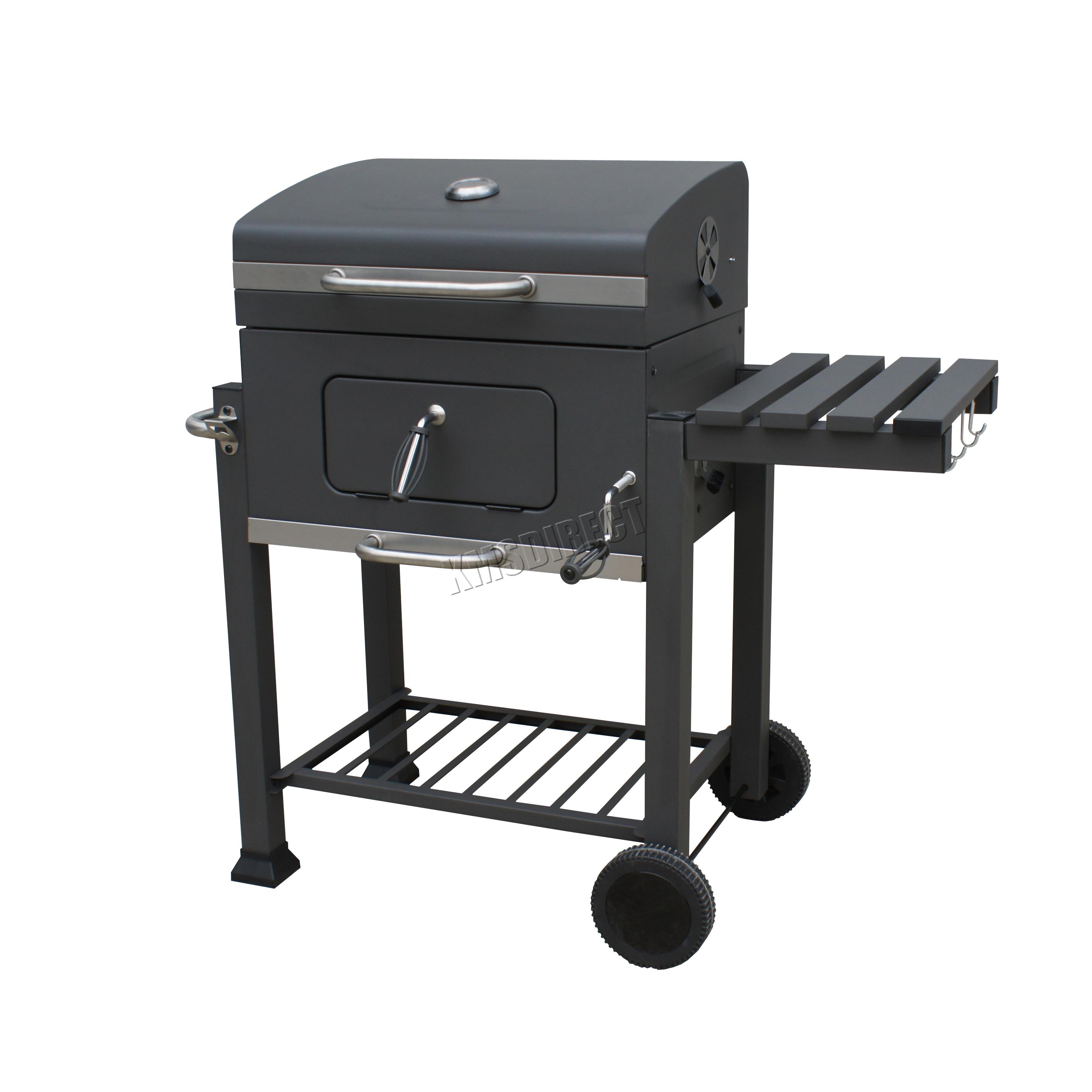 foxhunter charcoal bbq grill barbecue smoker garden portable outdoor cbg01 grey ebay. Black Bedroom Furniture Sets. Home Design Ideas