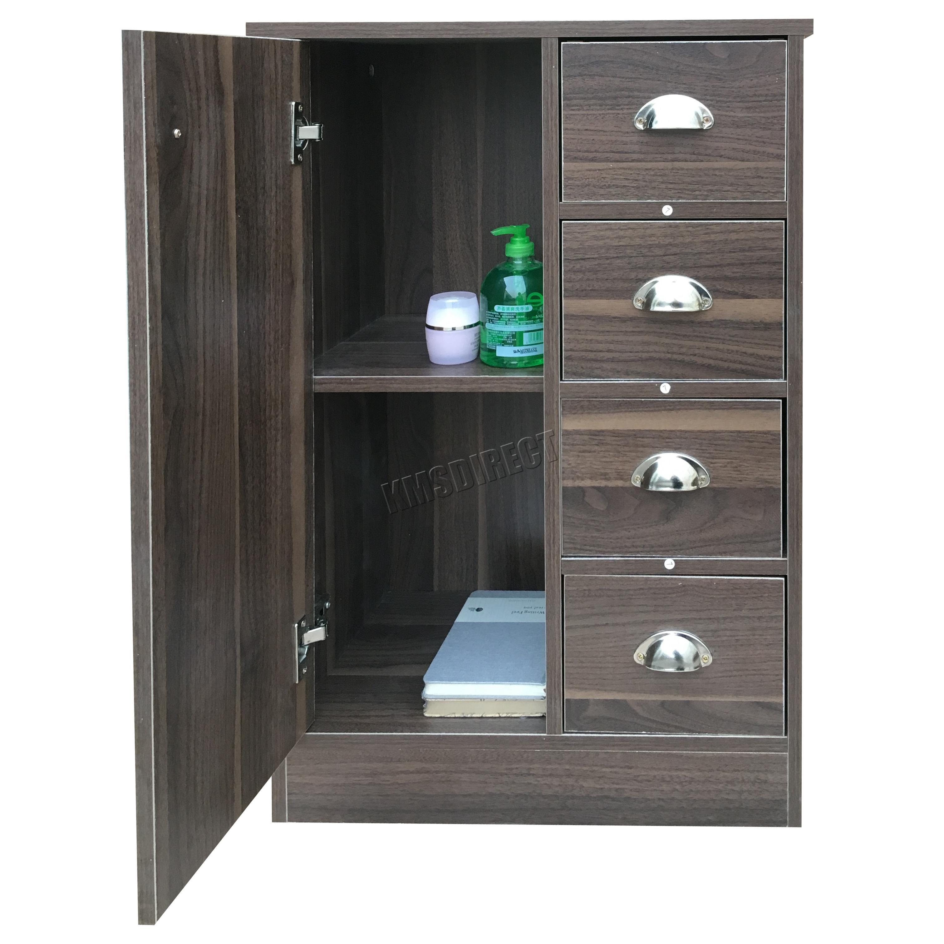 FoxHunter 4 Drawer 2 Shelves Bathroom Storage Cupboard