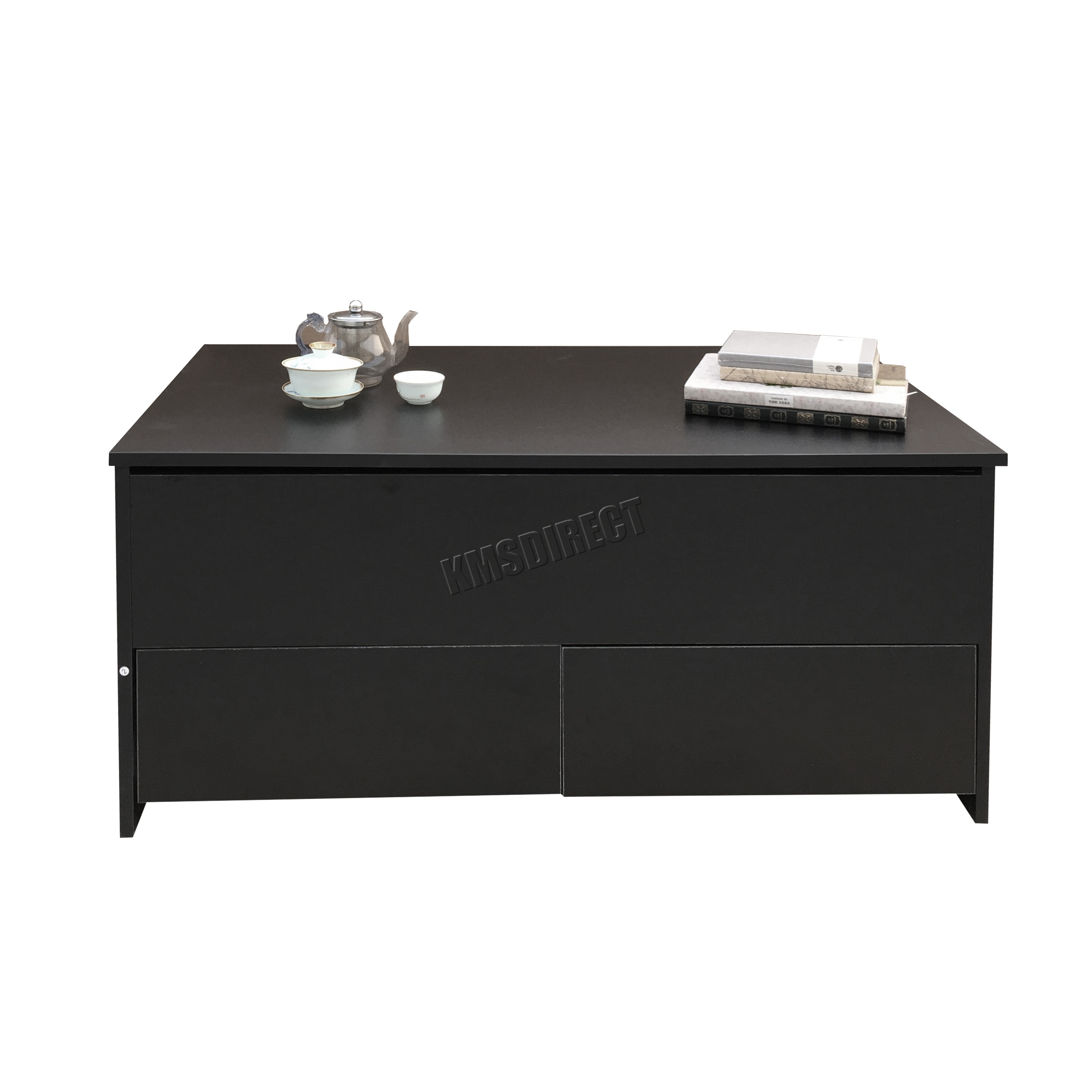 FoxHunter Slide Top Coffee Table With Storage And Drawer
