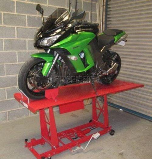 Motorcycle Work Lift : Lb hydraulic bike motorcycle motorbike workshop lift
