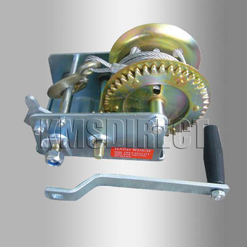 2500LB Hand Boat Marine Trailer Winch 5M Cable 2 Speed