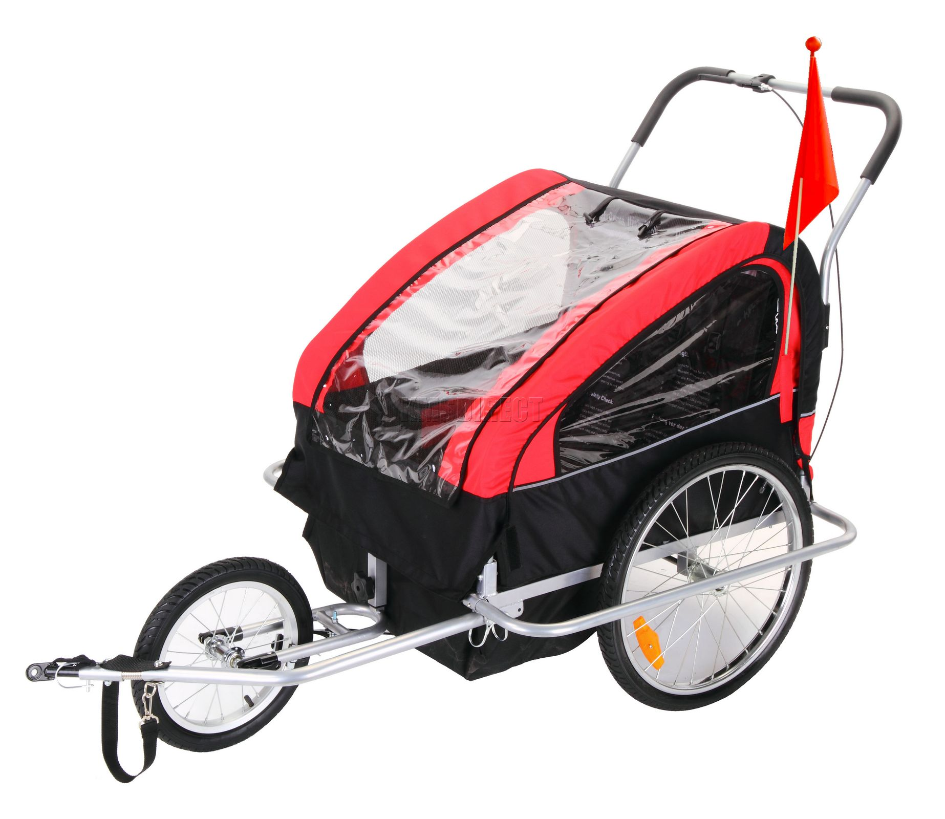 CHILD BIKE TRAILER CHILDREN STROLLER KIDS BICYCLE R/B | eBay