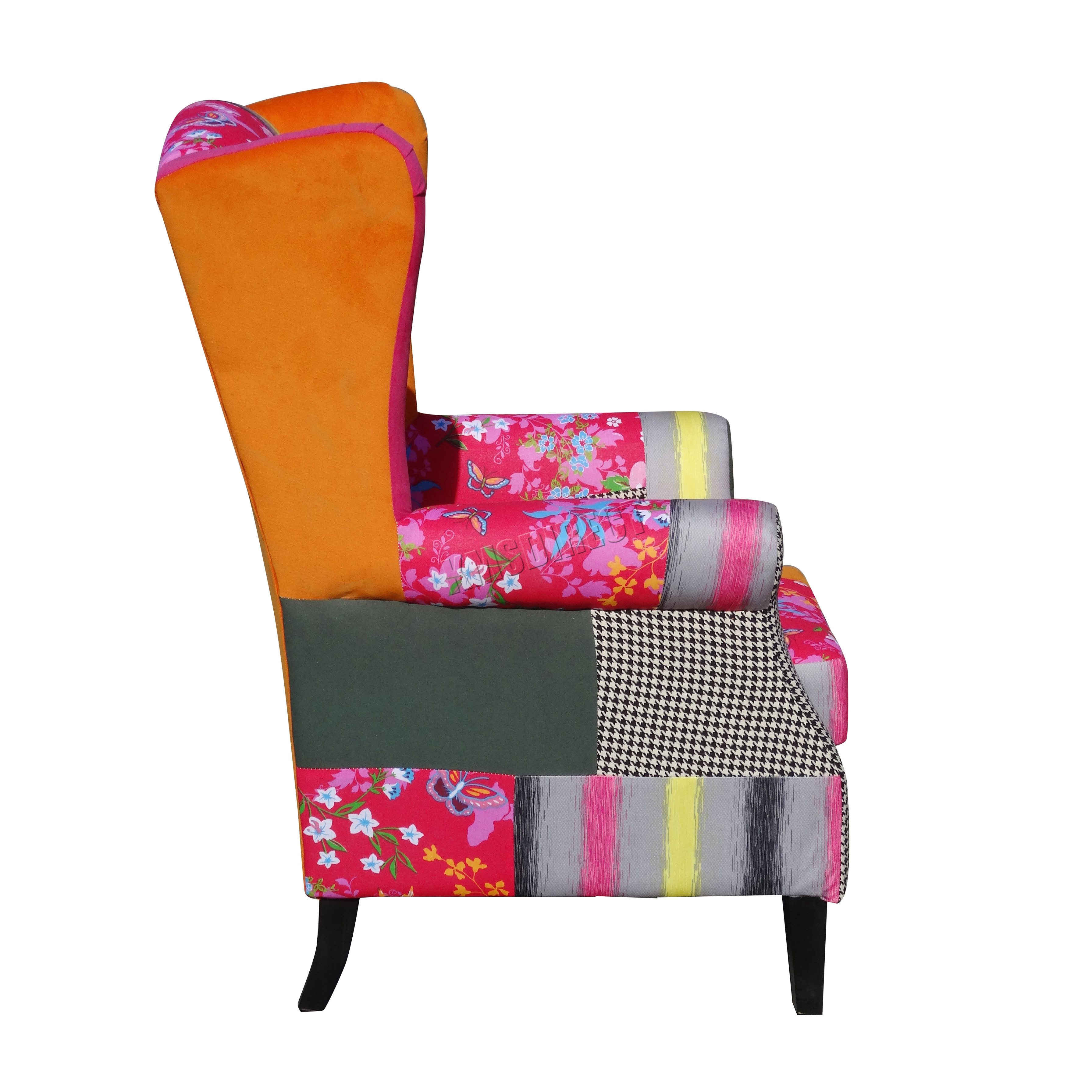 FoxHunter Patchwork Chair Fabric Vintage Armchair Seat  : PATCHWORK CHAIR PC071 KMSWM04 from www.ebay.co.uk size 3583 x 3583 jpeg 2972kB