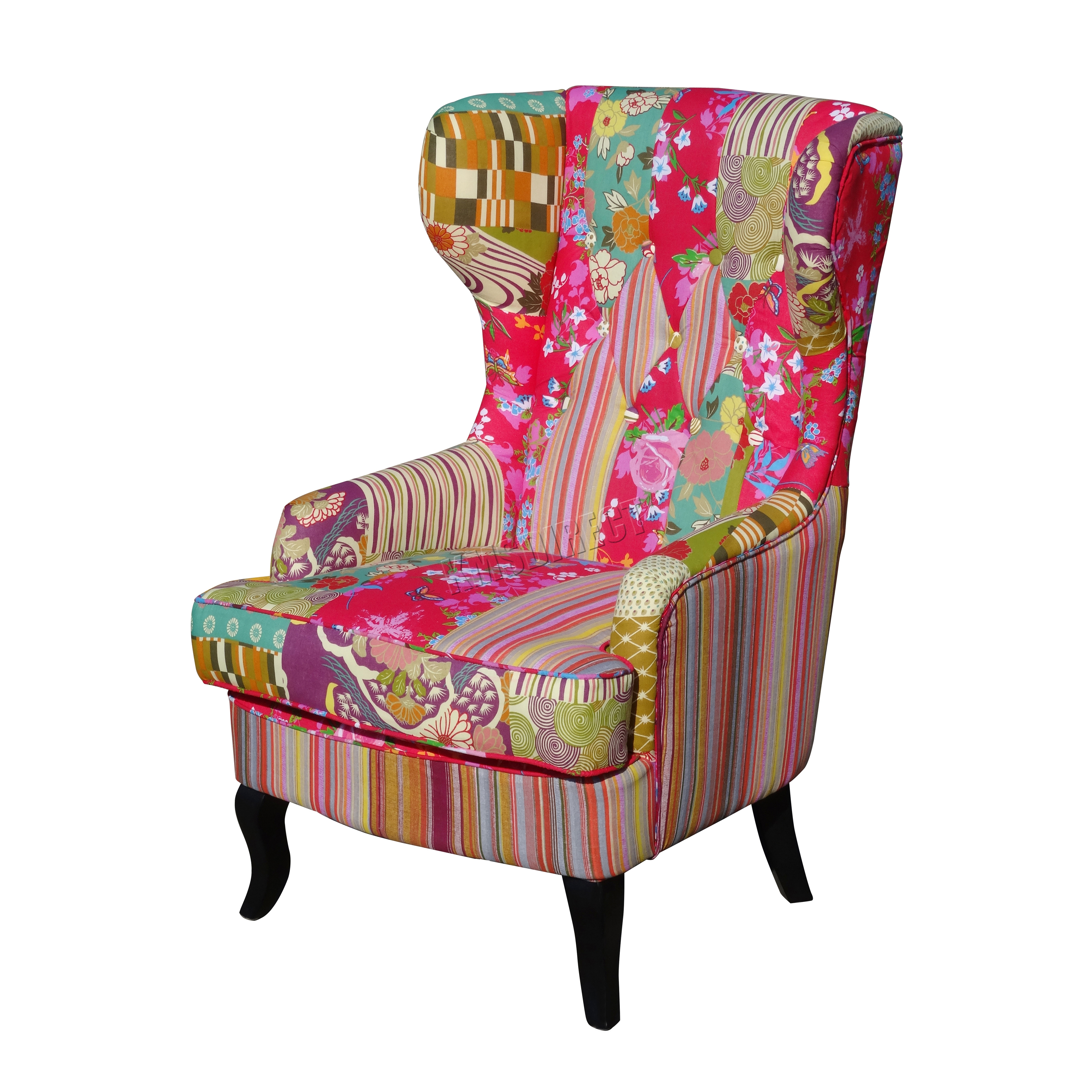 FoxHunter Patchwork Chair Fabric Vintage Armchair Seat  : PATCHWORK CHAIR PC073 KMSWM01 from www.ebay.co.uk size 3583 x 3583 jpeg 3828kB