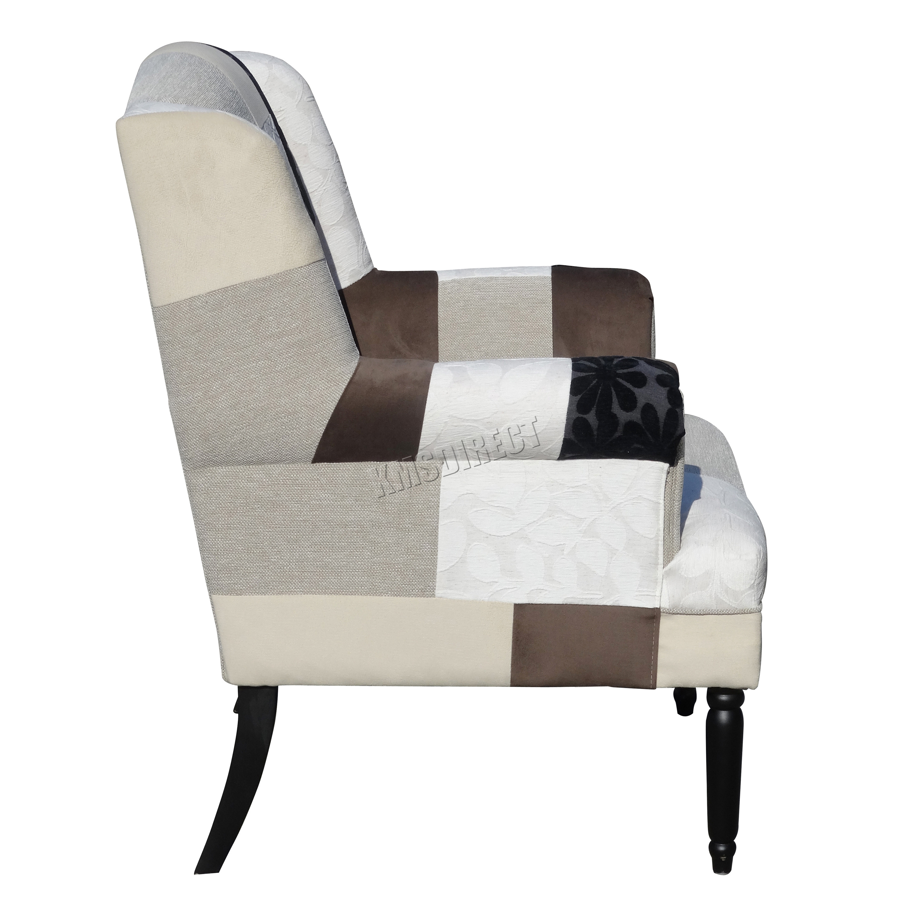 FoxHunter Patchwork Chair Fabric Vintage Armchair Seat Dining Living Room PC0