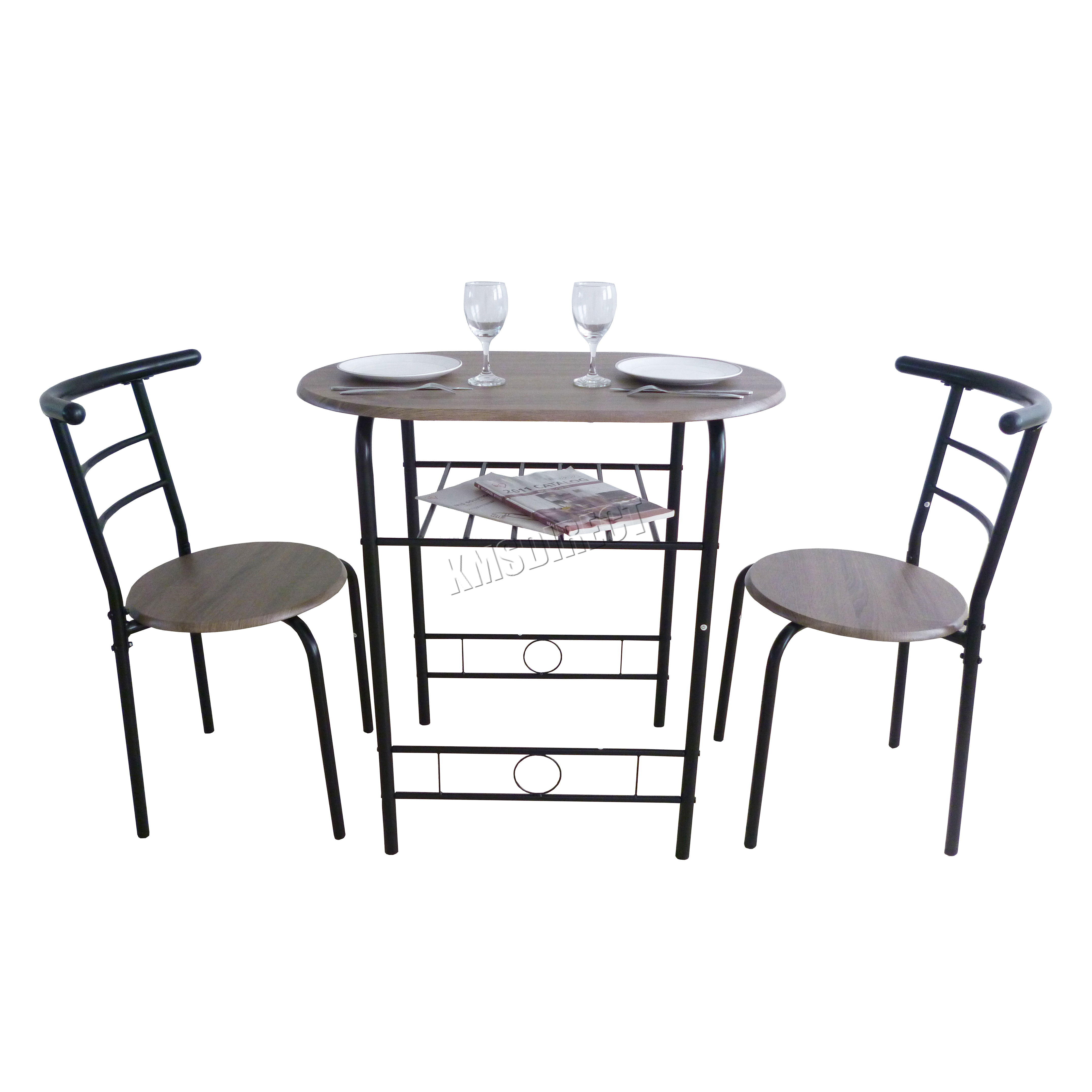 Bench Chairs Kitchen Tables And Chairs Ebay Free Kitchen: FoxHunter Compact Dining Table Breakfast Bar 2 Chair Set