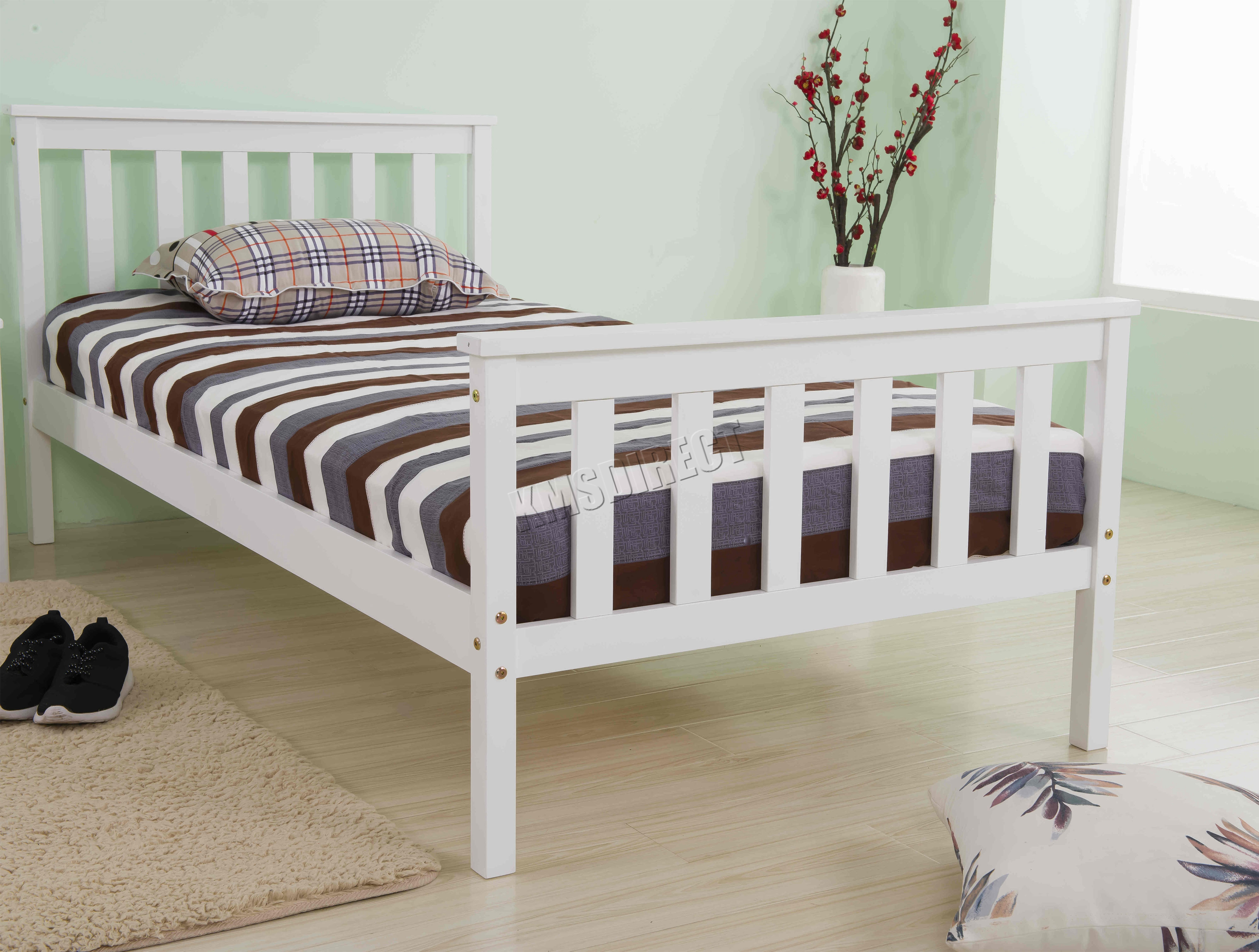 Pine Wood Bedroom Furniture Foxhunter 3ft Single Wooden Bed Frame Pine Bedroom Home Furniture
