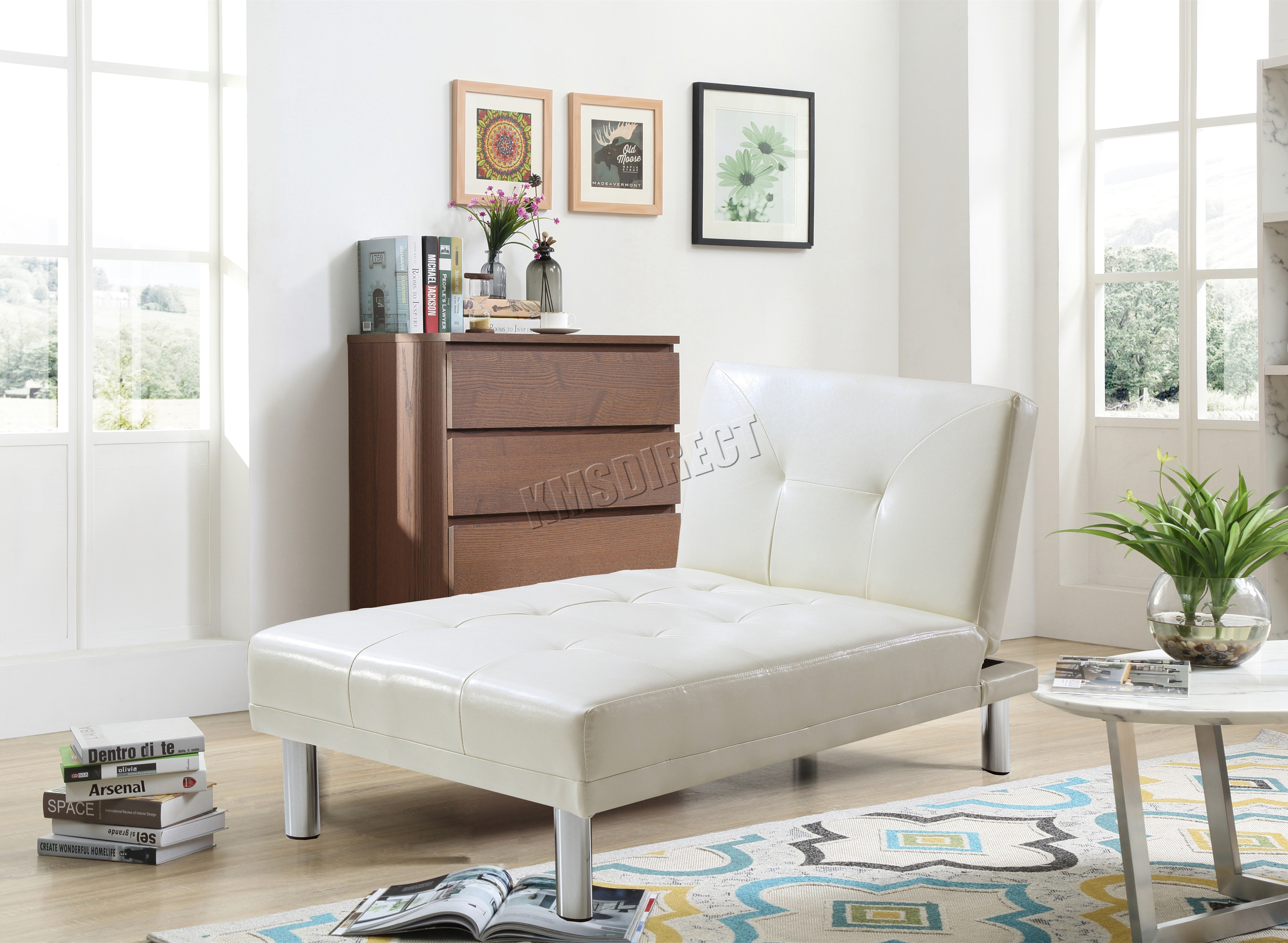 Single Chair For Bedroom Foxhunter Chaise Longue Single Sofa Bed 1 Seater Couch Faux