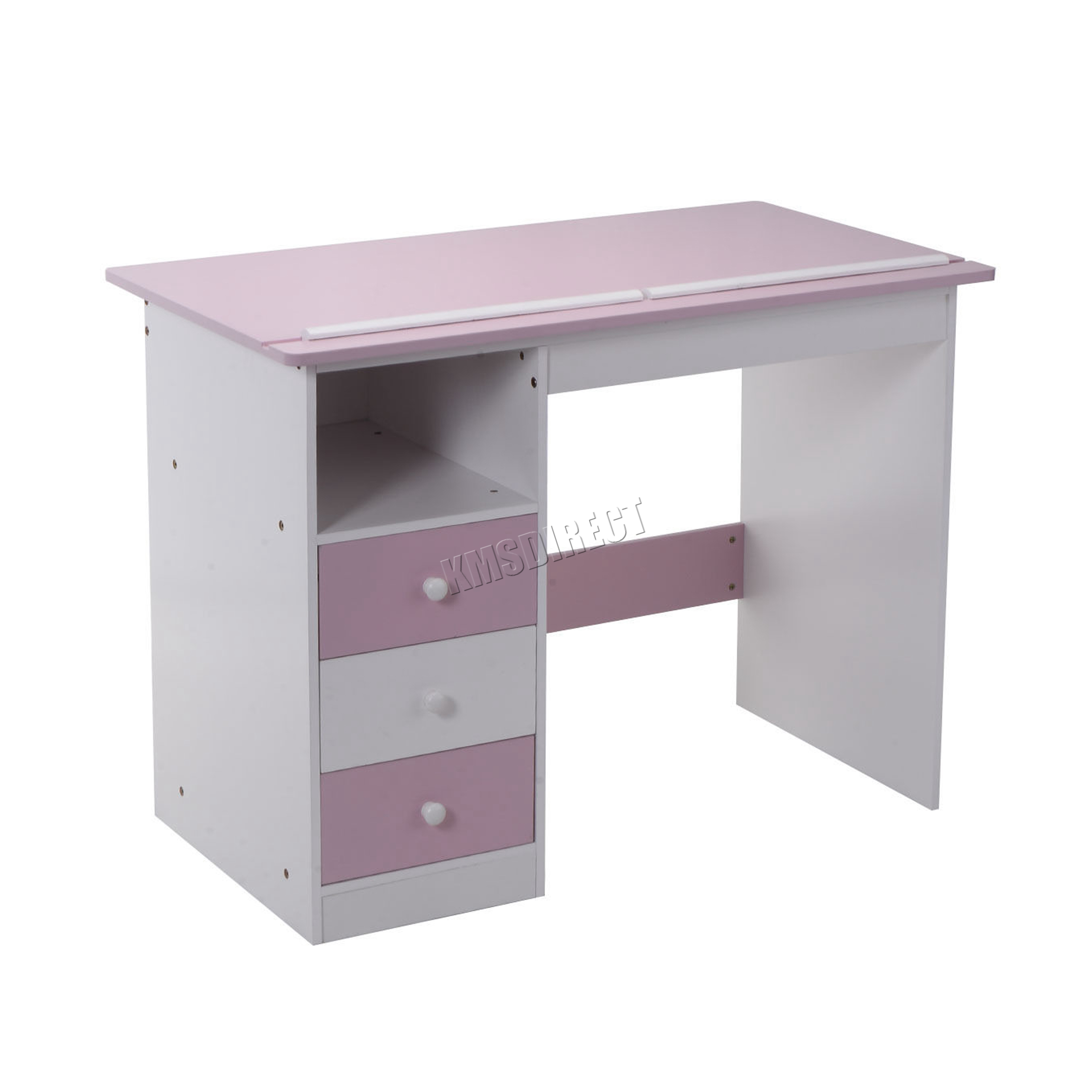 Table drawing for kids - Sentinel Foxhunter Tiltable Kids Study Desk Computer Drawing Lid Table Ksd01 Pink White