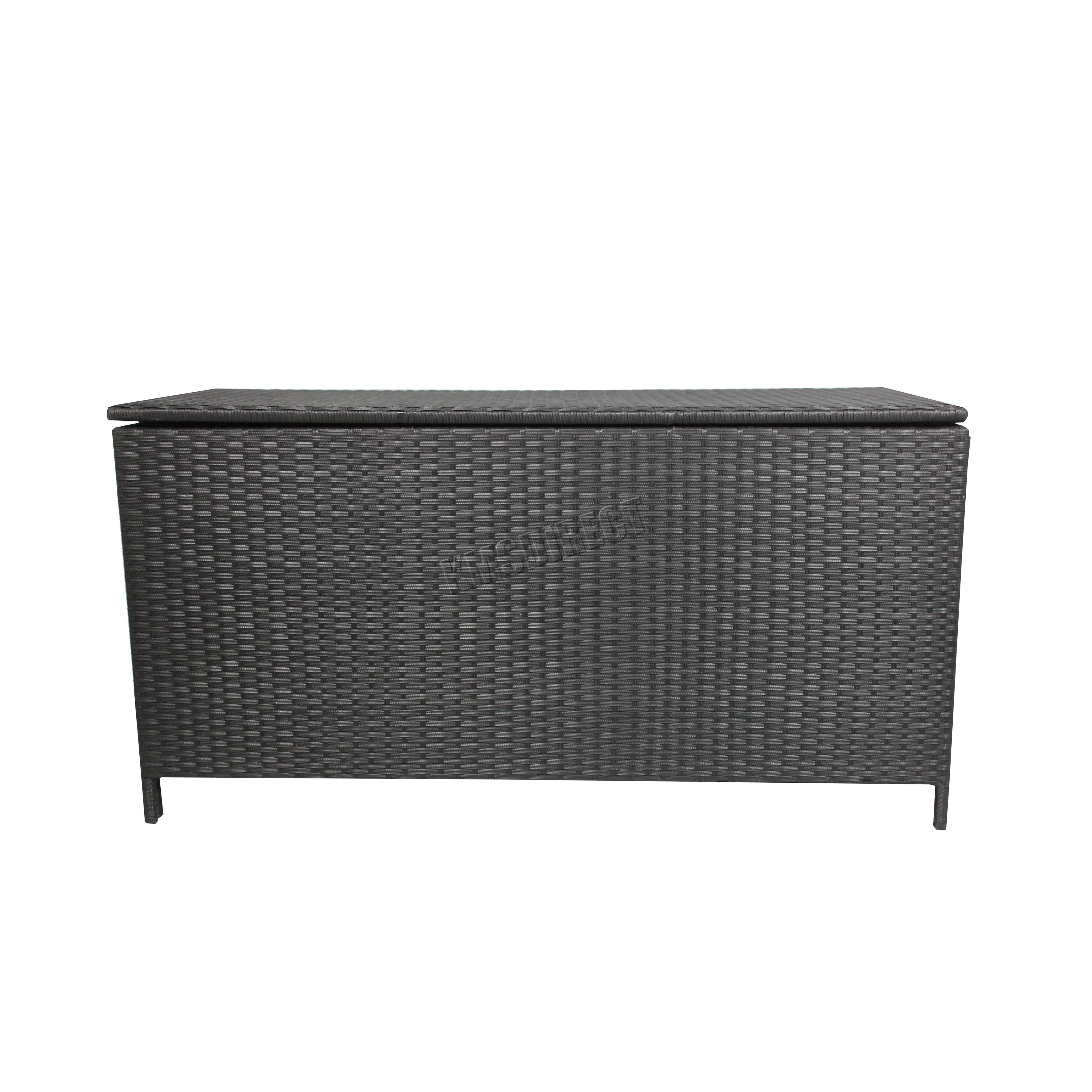 Garden Furniture With Storage foxhunter garden furniture rattan storage box woven chest patio