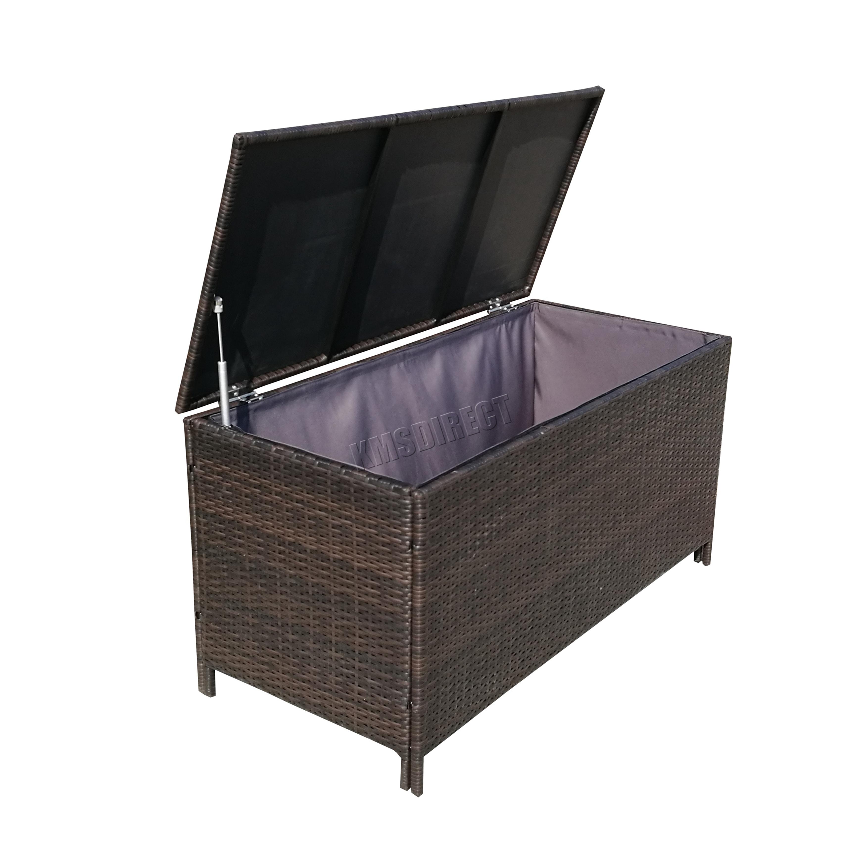 foxhunter garden furniture rattan storage box woven patio