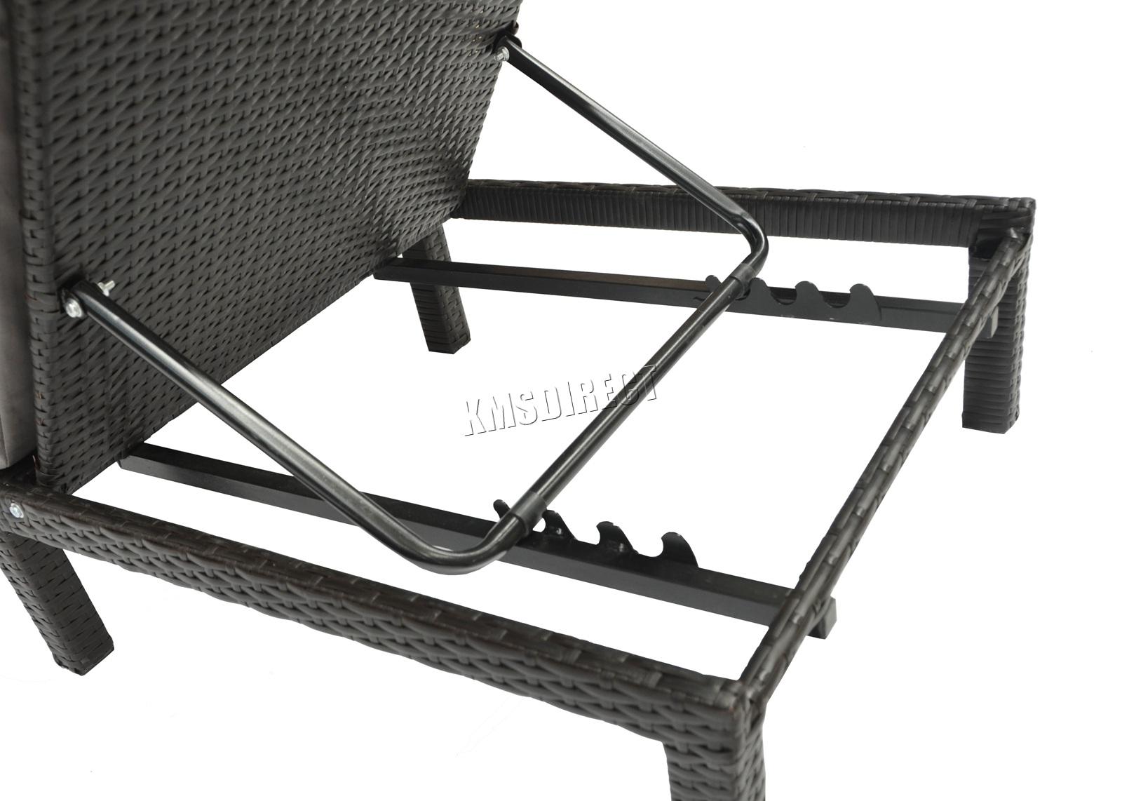 BIRCHTREE Rattan Day Chair Recliner Sun Bed Lounger Outdoor Garden Patio SRL02