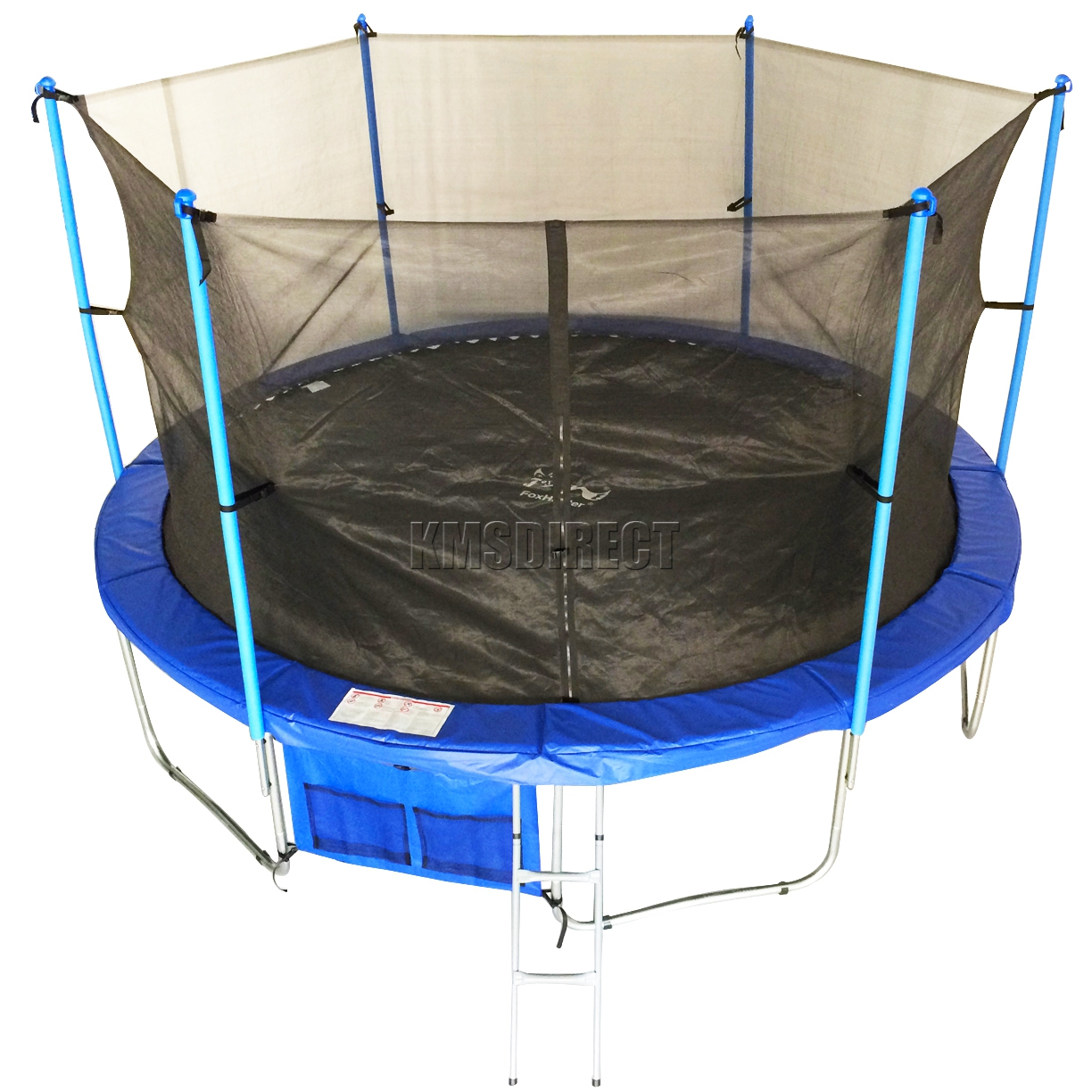 FoxHunter 14ft Trampoline With Ladder Net Enclosure Safety