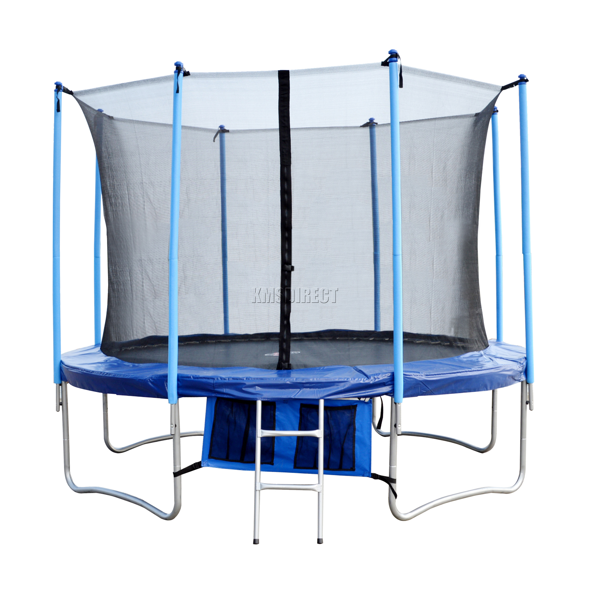 New 10ft Trampoline With Safety Enclosure Net Surround
