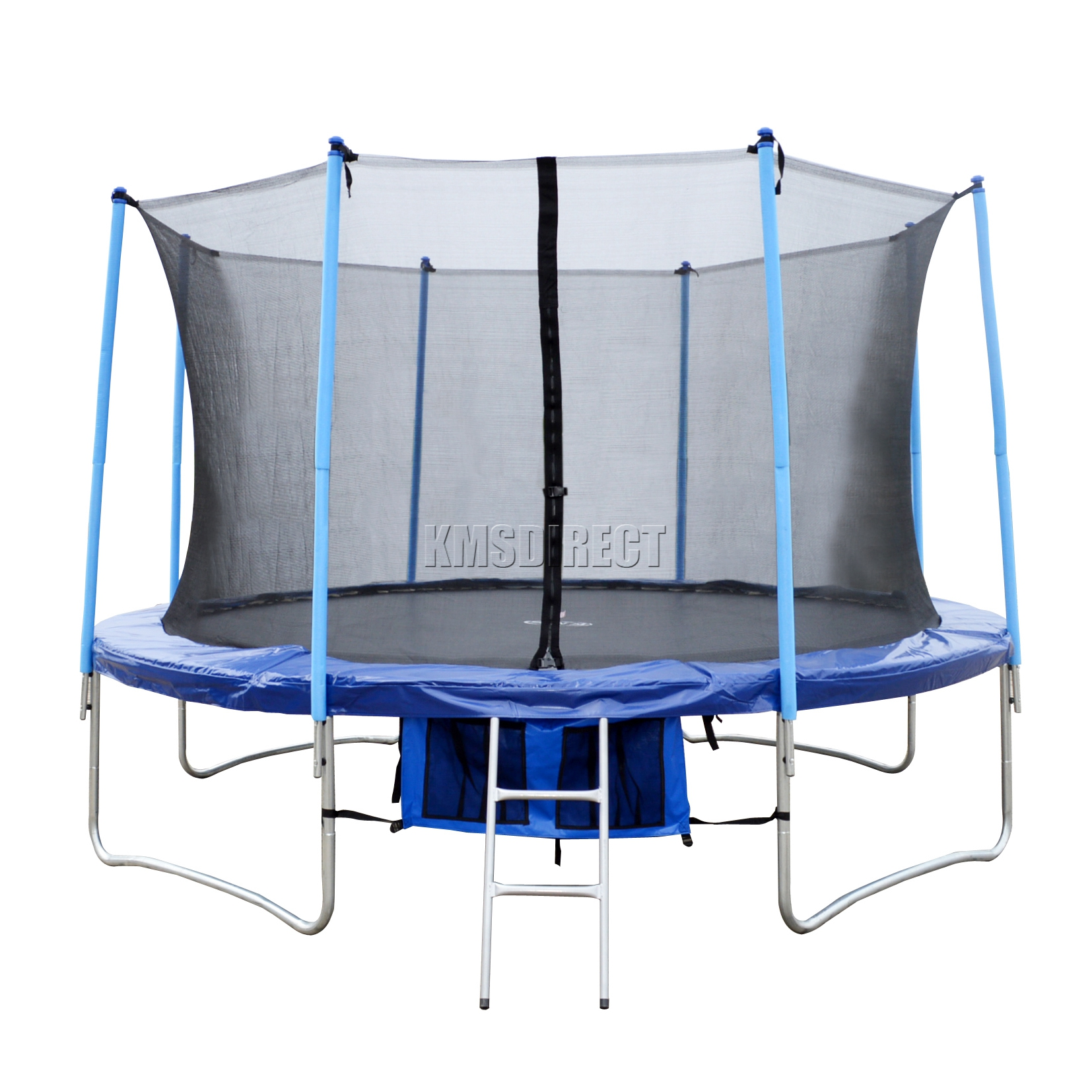 14ft Basic Trampoline Pad: 14FT Trampoline With Ladder Net Enclosure Safety Pad