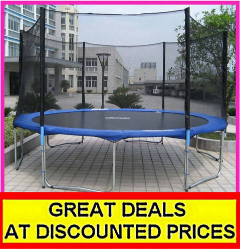 New Heavy Duty Trampoline 14 Ft With Ladder Safety Net: 14ft TRAMPOLINE + NET + LADDER + COVER + FULLY LOADED