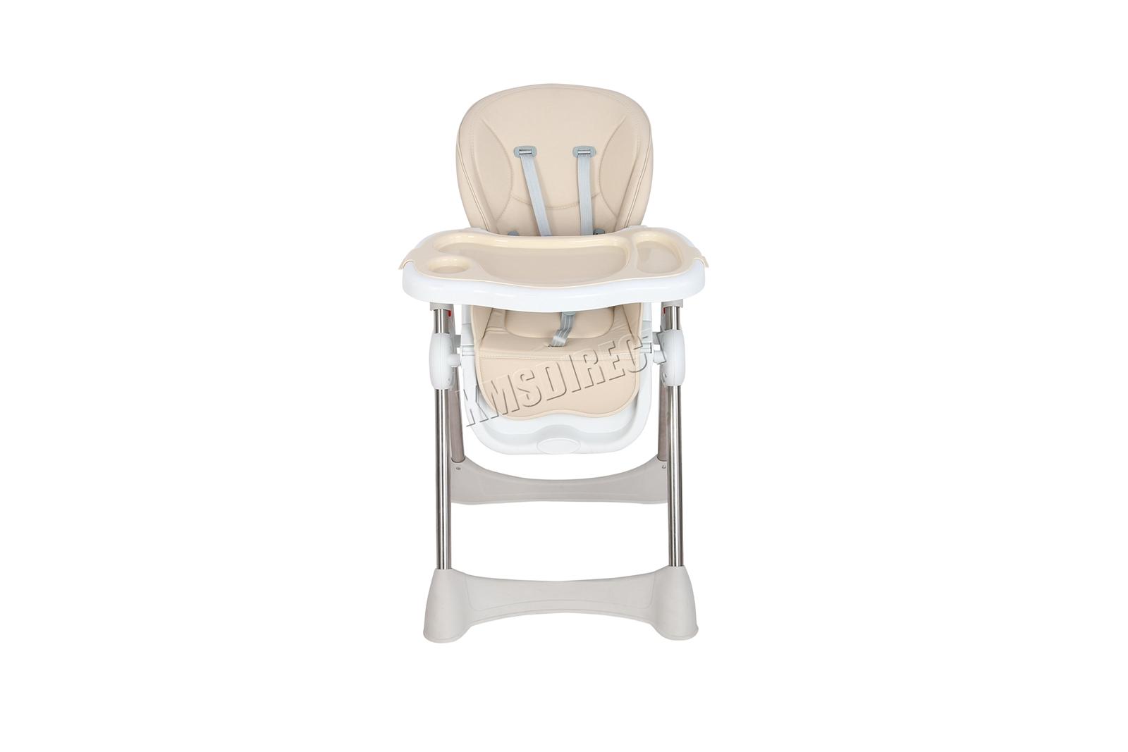 FoxHunter Portable Baby High Chair Infant Soft Leather Feeding Nursery BHC04