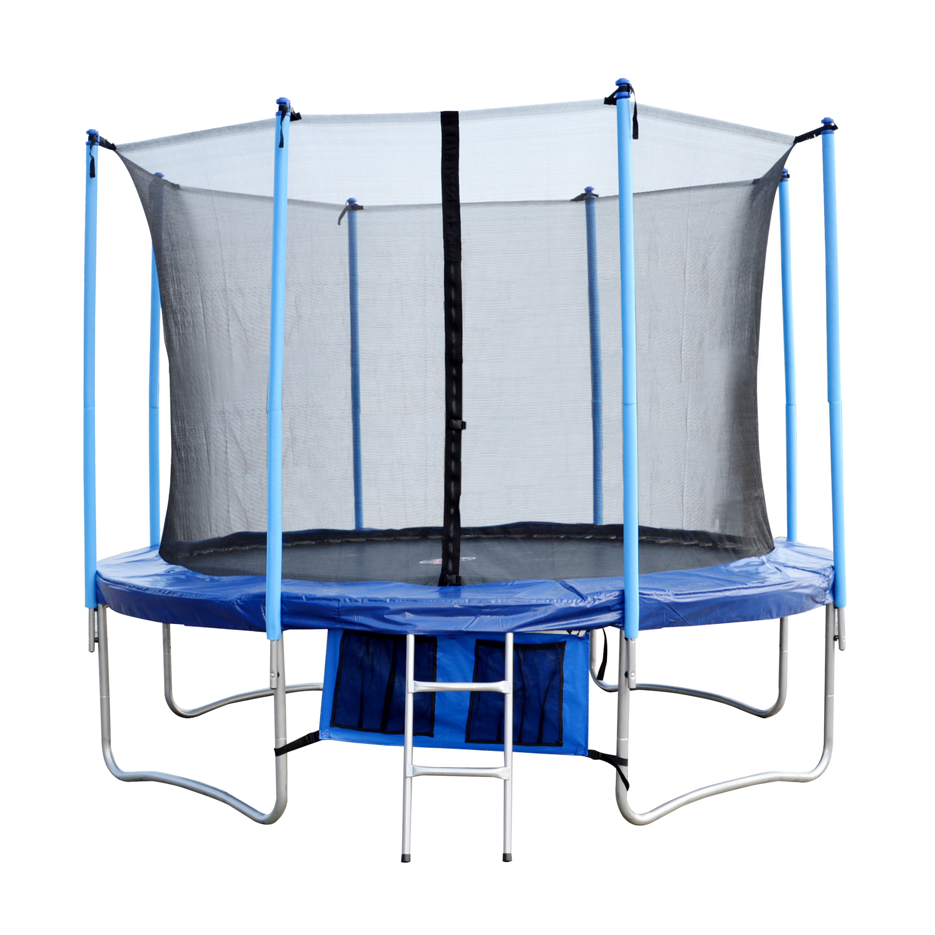 FoxHunter 10ft Trampoline With Ladder Net Enclosure Safety