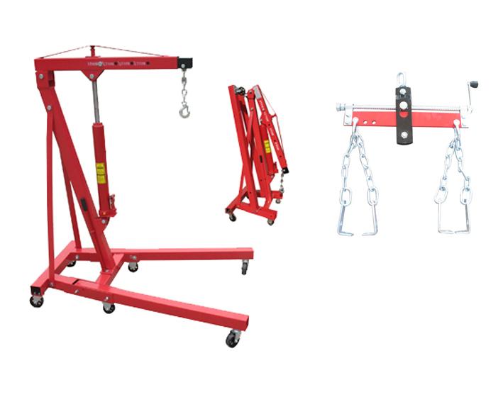 2 Ton Engine Hoist Crane 750kg Chain Load Level New Ebay