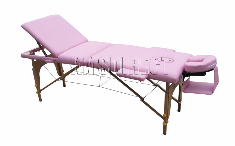 Portable 3 Section Massage Table Beauty Couch Bed Pink