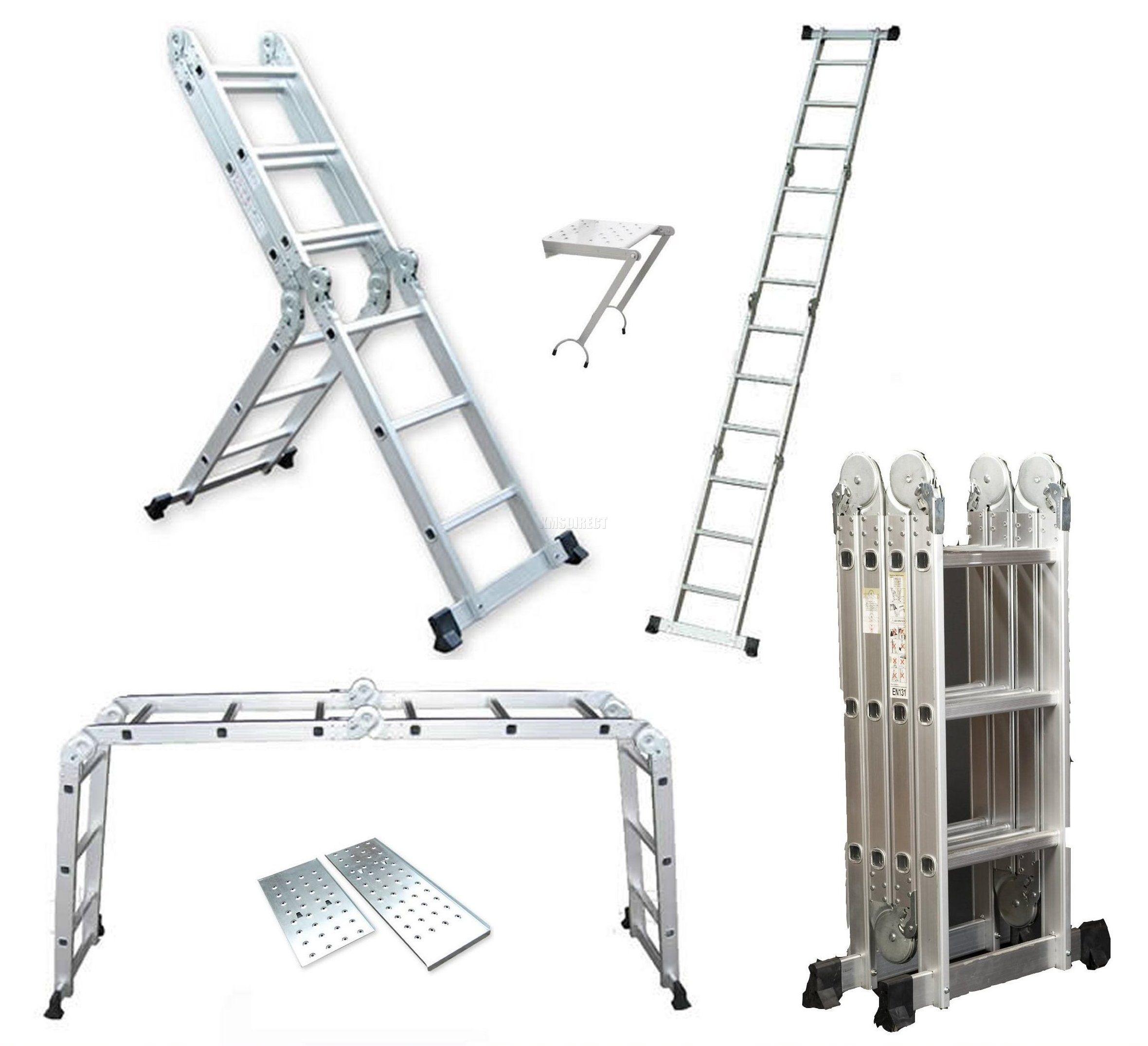 Ladder Scaffold Platform : M multi purpose aluminium extension scaffold ladder
