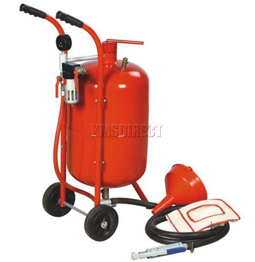 38 L/10 Gallon Pot Bead Shot Portable Sandblaster Sand Blaster Blasting Cleaning