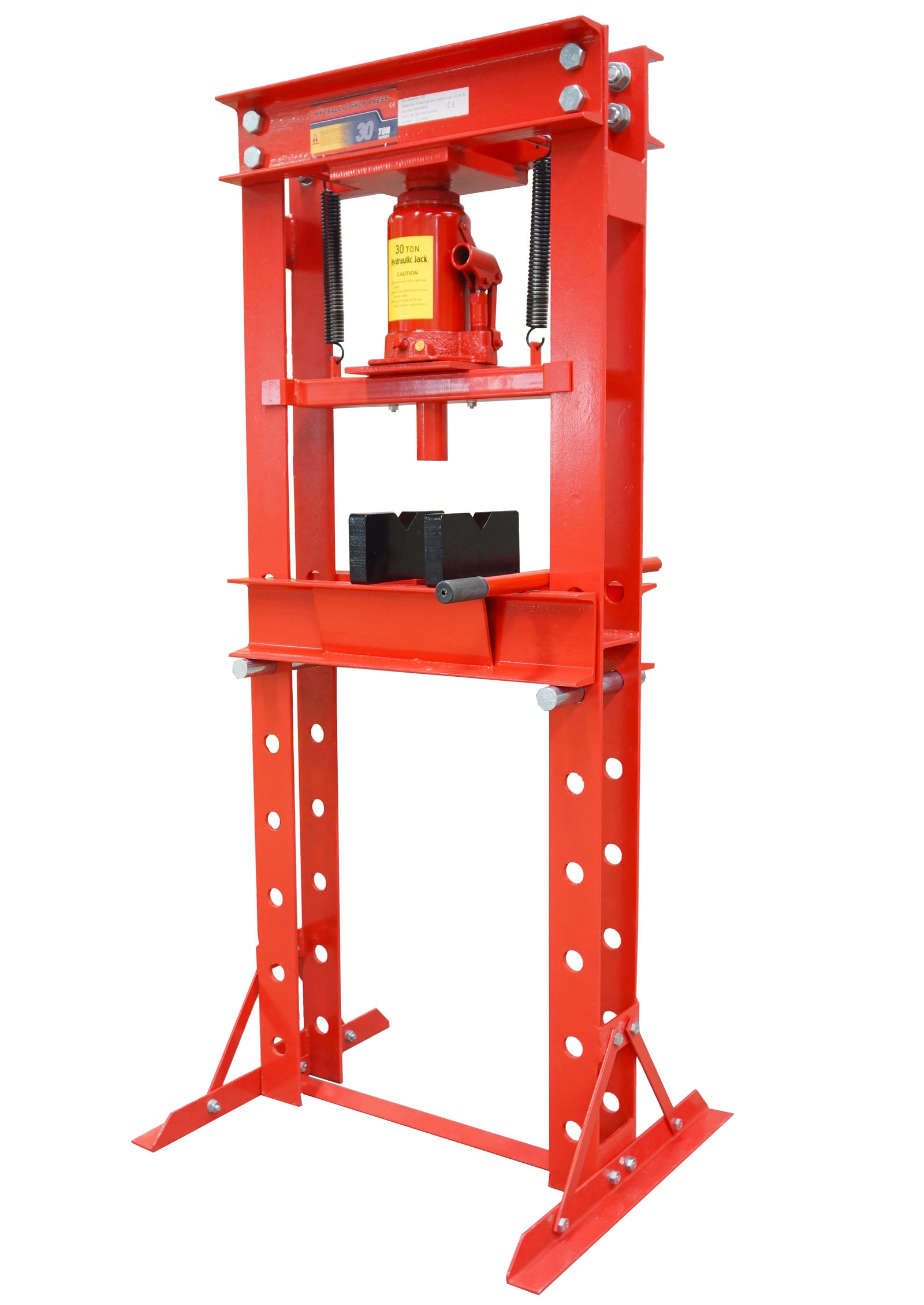 Foxhunter Red 30 Ton Hydraulic Workshop Garage Shop Press