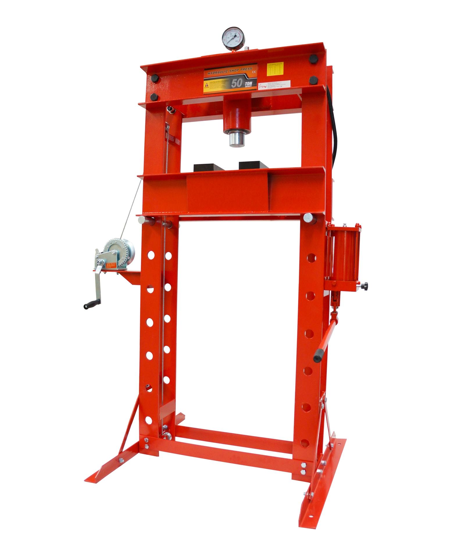 50 Ton Industrial Hydraulic Garage Shop Workshop Press Ebay