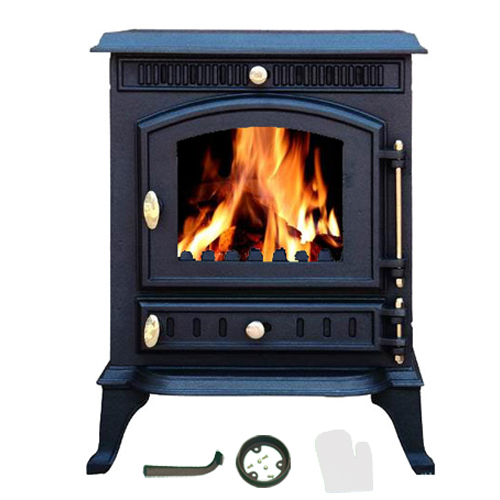 NEW Cast Iron MultiFuel Wood Burning Stove 7 kw JA010