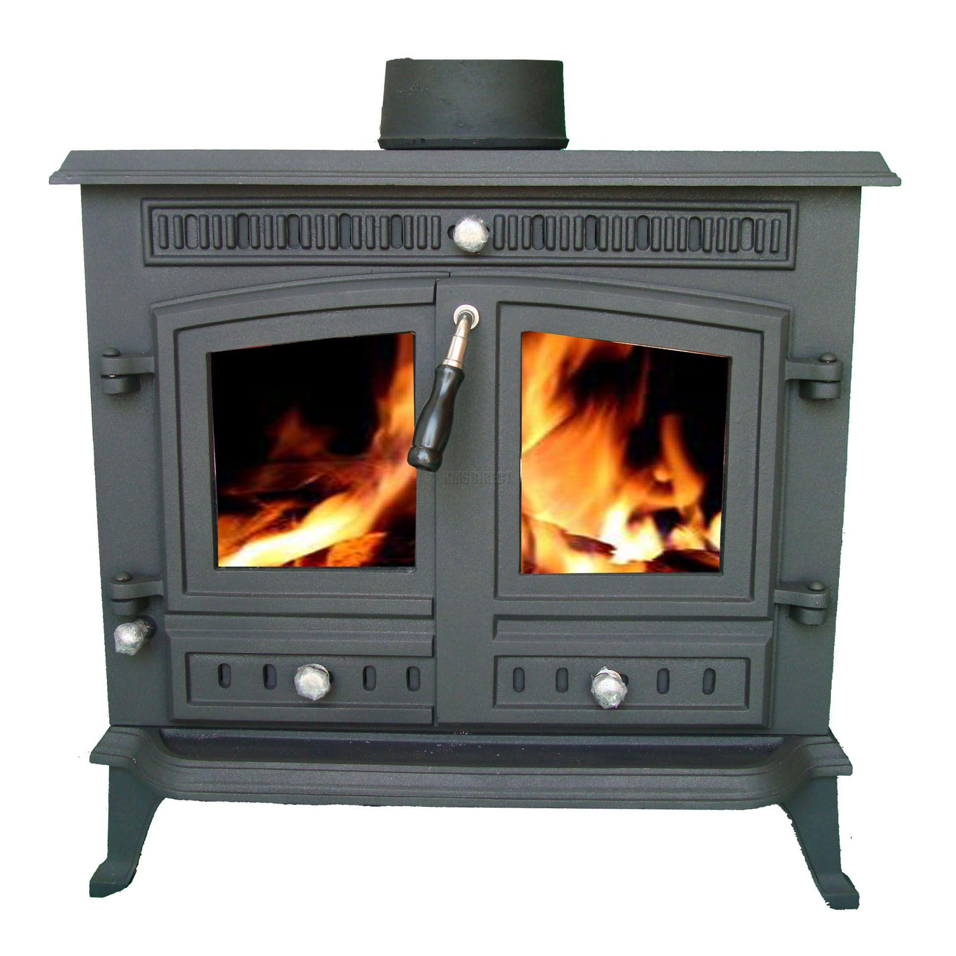 Multi Fuel Burner Reviews: NEW Cast Iron Log Burner MultiFuel Wood Burning 13 Kw