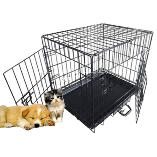 Pet Dog Puppy Cat Training Cage Crate Carrier 42