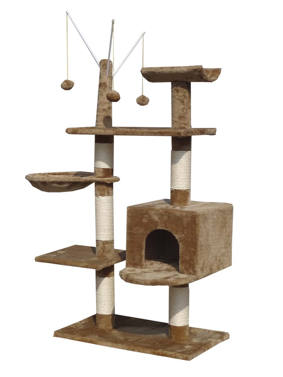 Kitten Cat Tree Scratching Post Activity Centre Bed Toys