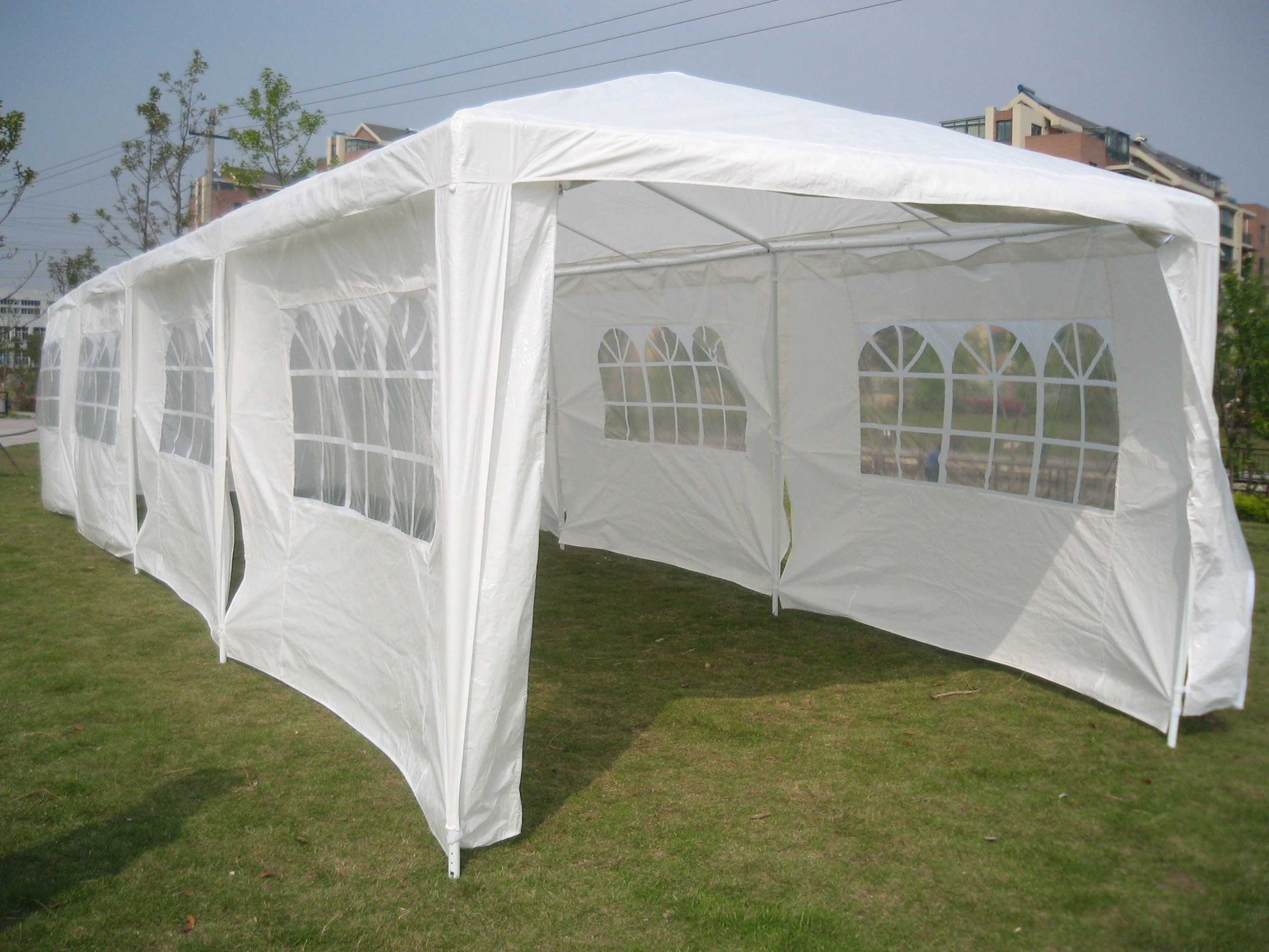 12m X 3m Wedding Party Tent Marquee Gazebo Canopy Pe Ebay