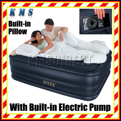 Intex Queen Size Downy Air Bed Airbed 718 With Pump Enlarged Preview