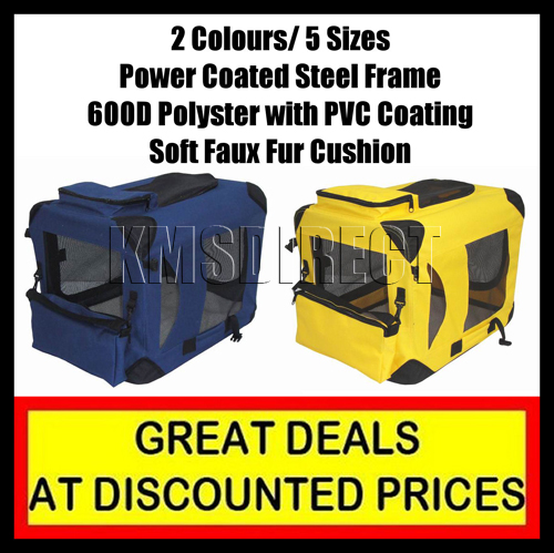 Soft Folding Dog Crate Pet Cage Puppy Carrier Kennel T2 Enlarged Preview