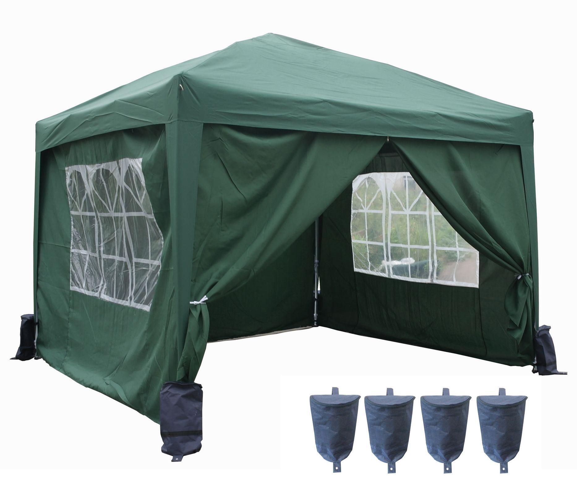 pop up pvc garden gazebo waterproof 3 x 3m folding party. Black Bedroom Furniture Sets. Home Design Ideas