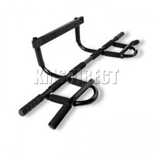 Door gym exercise bar pull up chin up push sit ups dips ebay for Door frame pull up bar