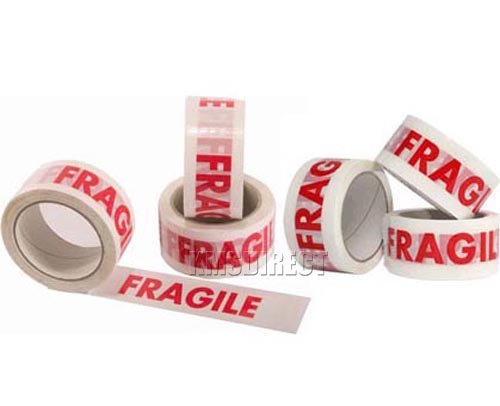 36 Micron Fragile Printed Packing Tape 48mm x 66m x 24