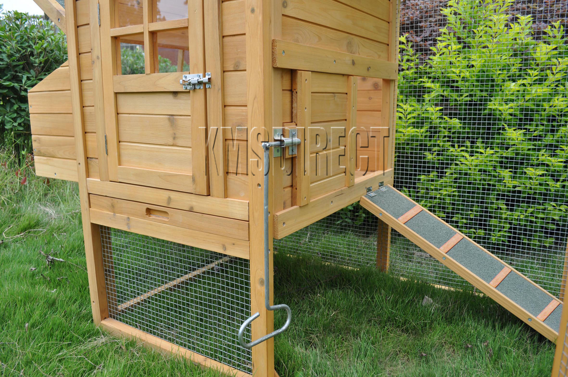 ... KMS Distributions   Wooden Chicken Coop Poultry House Hen Ark U0026amp; Run
