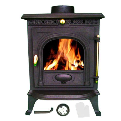 po le bois chemin e fonte b che br leur multifuel 6kw. Black Bedroom Furniture Sets. Home Design Ideas