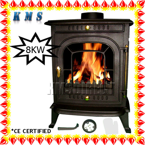 WoodBurner NEW Cast Iron Log Burner MultiFuel Wood Burning 8 kw Stove JA008