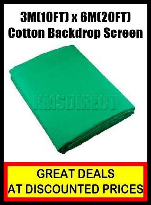 Green 10FT x 20FT Studio Photo Photography Cotton Background Backdrop Screen