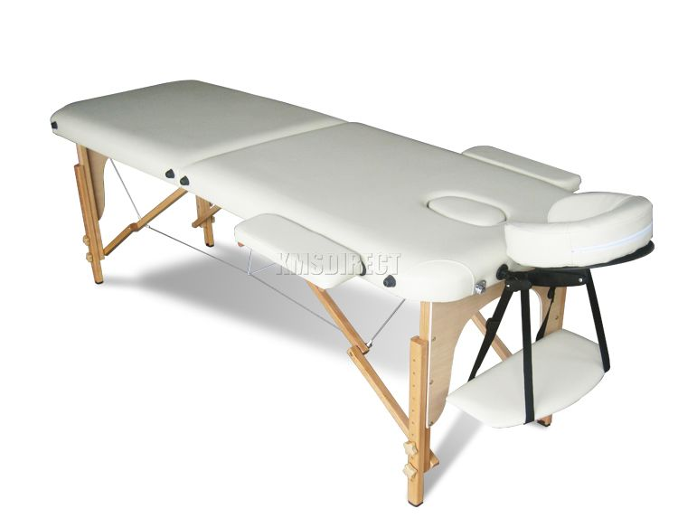 Light weight portable massage table beauty bed 2 section for Beauty on table