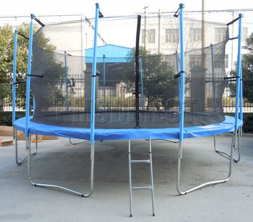New Heavy Duty Trampoline 14 Ft With Ladder Safety Net: New 16ft Trampoline With Ladder Net Enclosure Safety