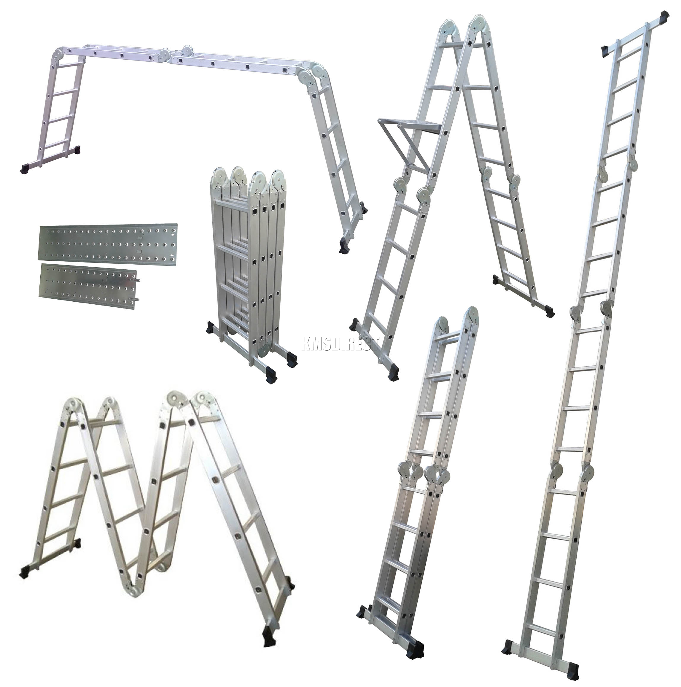 6ft Multi Purpose Step Ladders : M multi purpose aluminium extension scaffold ladder