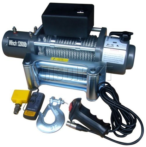 12000lb Recovery 4X4 Winch 24v with Wireless Remote Control