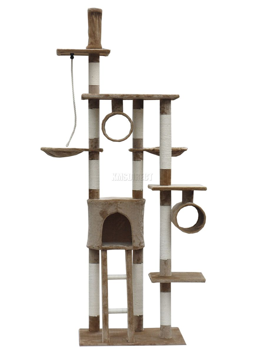 Cat Tree Scratching Post Scratch Activity Centre Bed Toys Scratcher D006 Brown